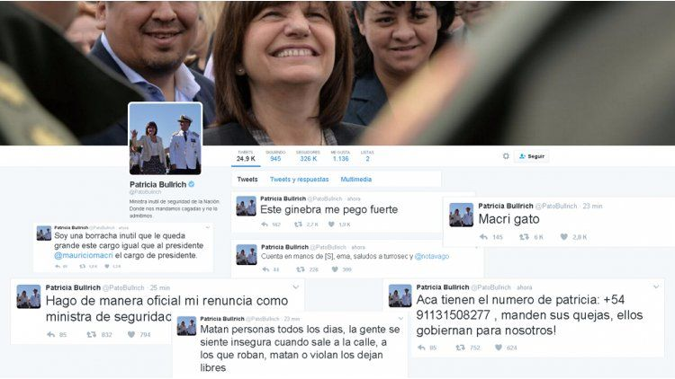 Dos detenidos por el hackeo a la cuenta de Twitter de Patricia Bullrich
