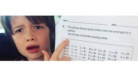 No pudo resolver la tarea, le preguntó a sus padres y el ejercicio se viralizó