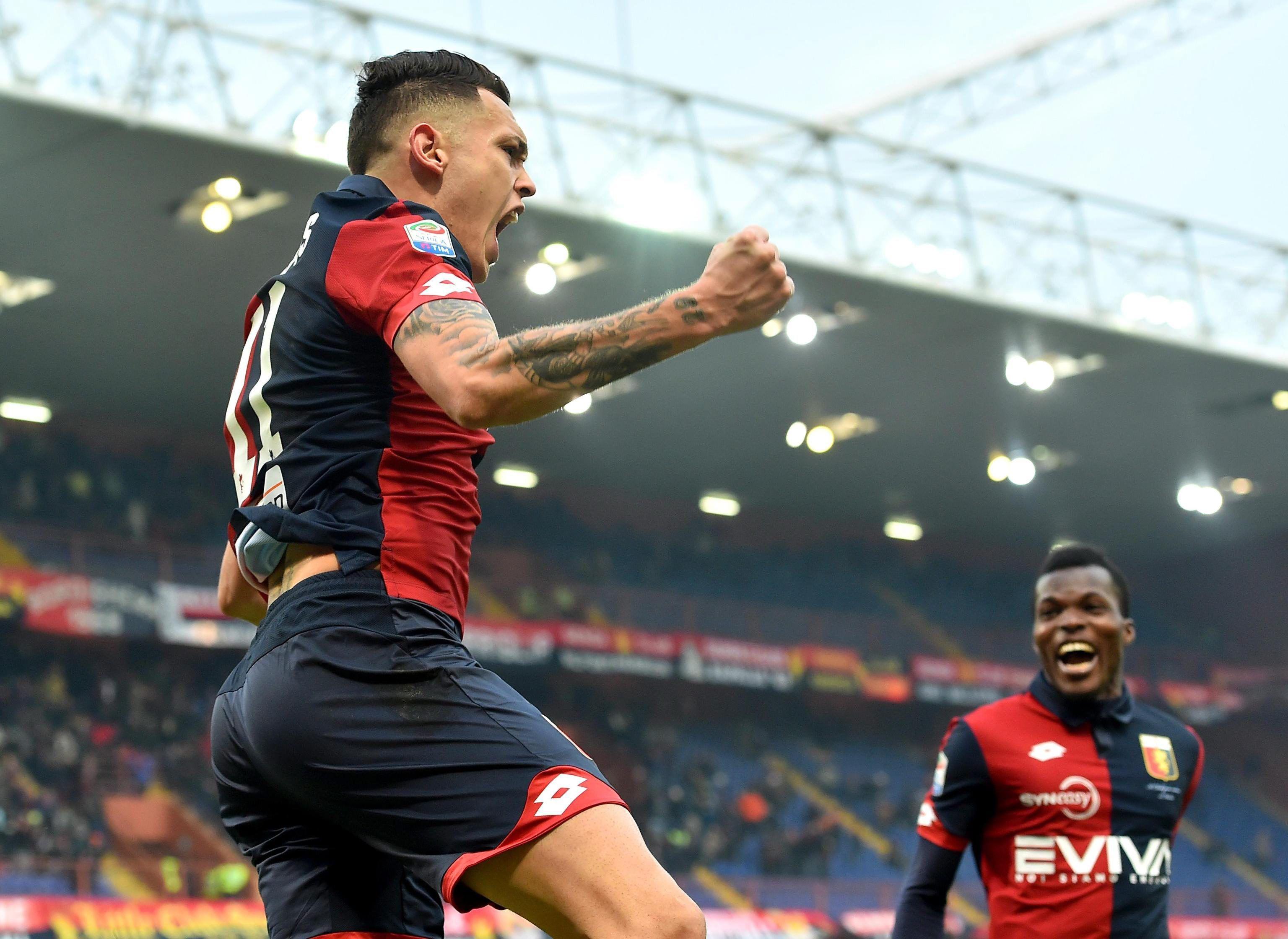 Lucas Ocampos marcó para el Genoa