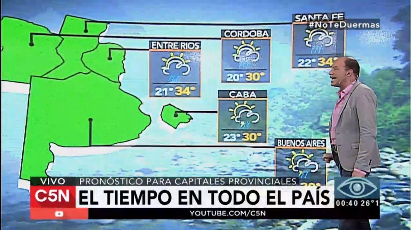 Pronóstico del tiempo para el país del 24 de enero de 2017