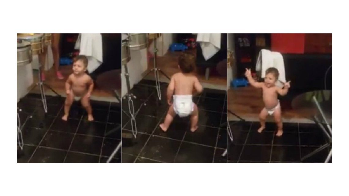 Viral del día: un bebé sorprende a todos con su tremenda destreza para el baile