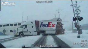 Brutal choque entre un camión y un tren en Utah