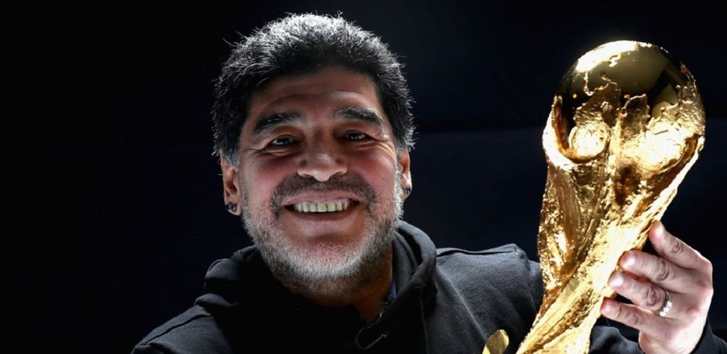 Diego Maradona y la copa del mundo