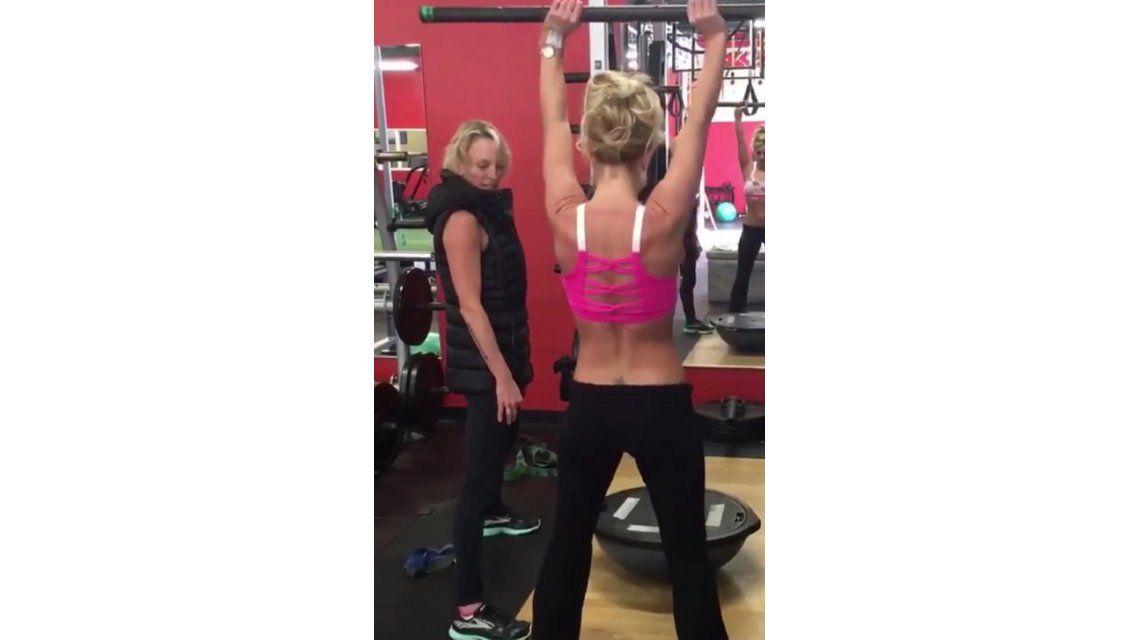 El riguroso entrenamiento de Britney Spears