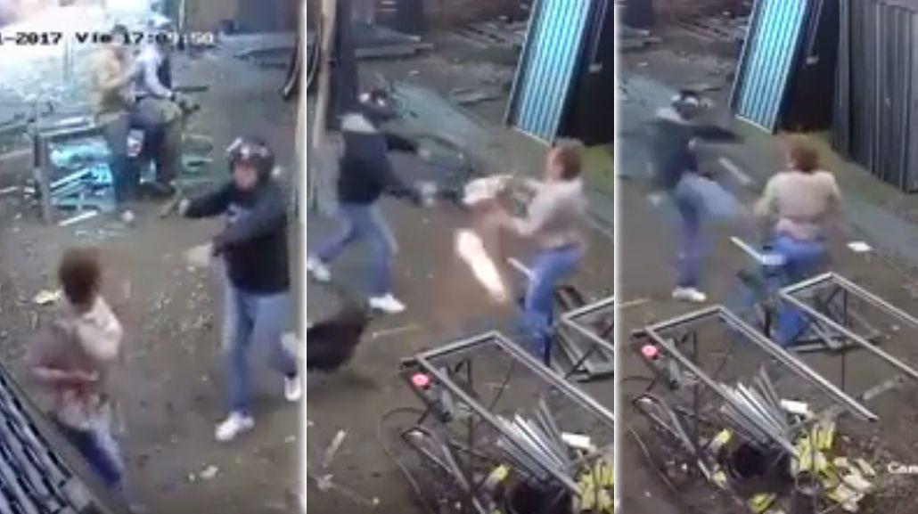 Una mujer se enfrentó a un ladrón y sobrevivió a un disparo
