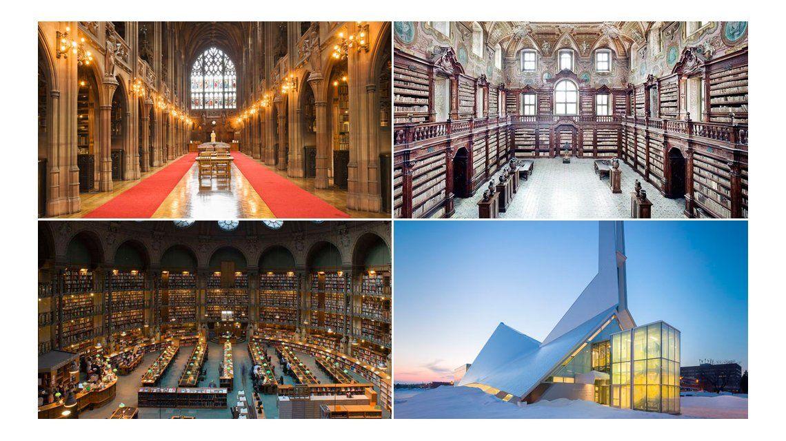 Conocé las bibliotecas más imponentes del mundo