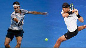 Nadal y Federer en la final del Abierto de Australia