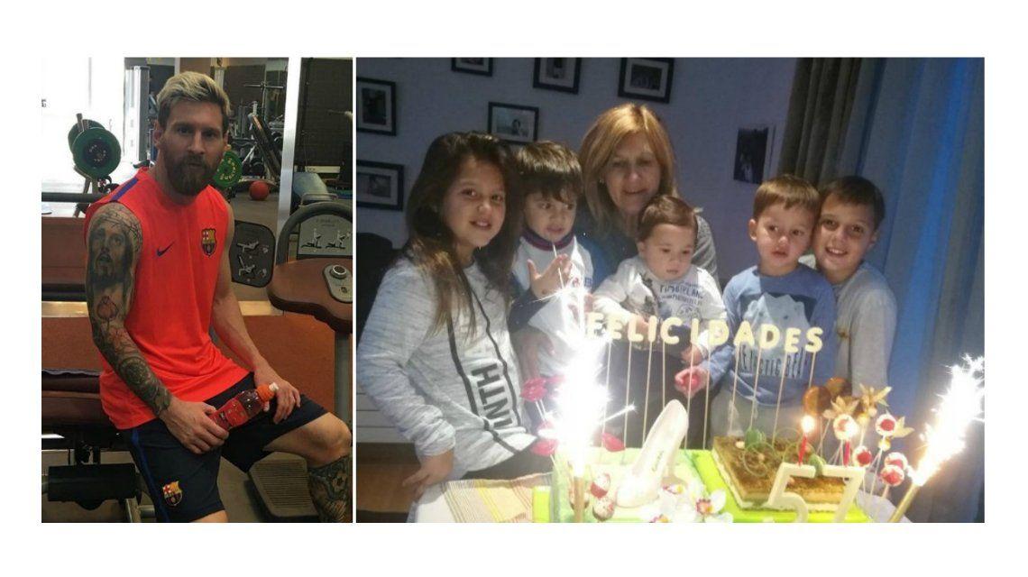 Cumpleaños de la mamá de Leo Messi