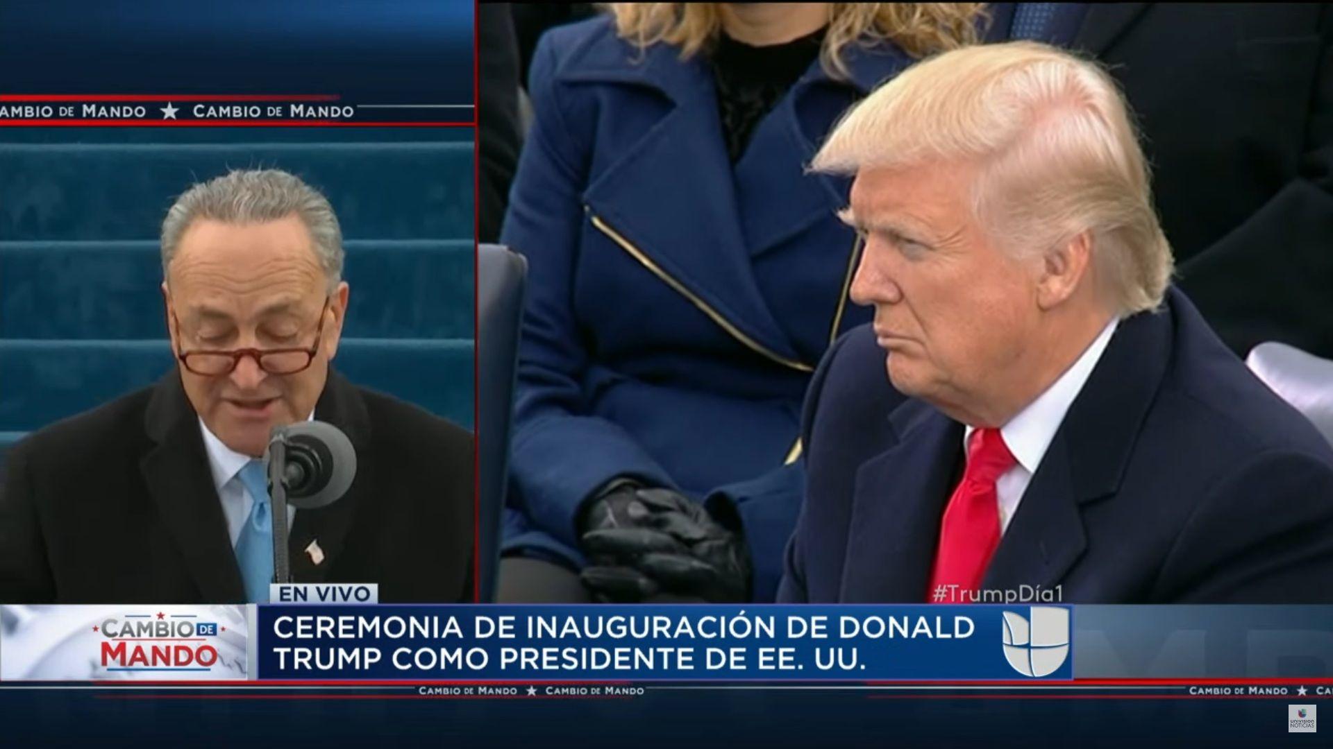 Seguí en vivo y en directo la asunción de Donald Trump