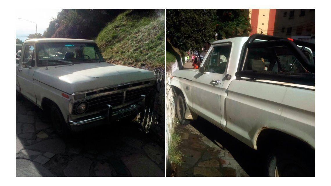 La camioneta embistió a un auto en su recorrido
