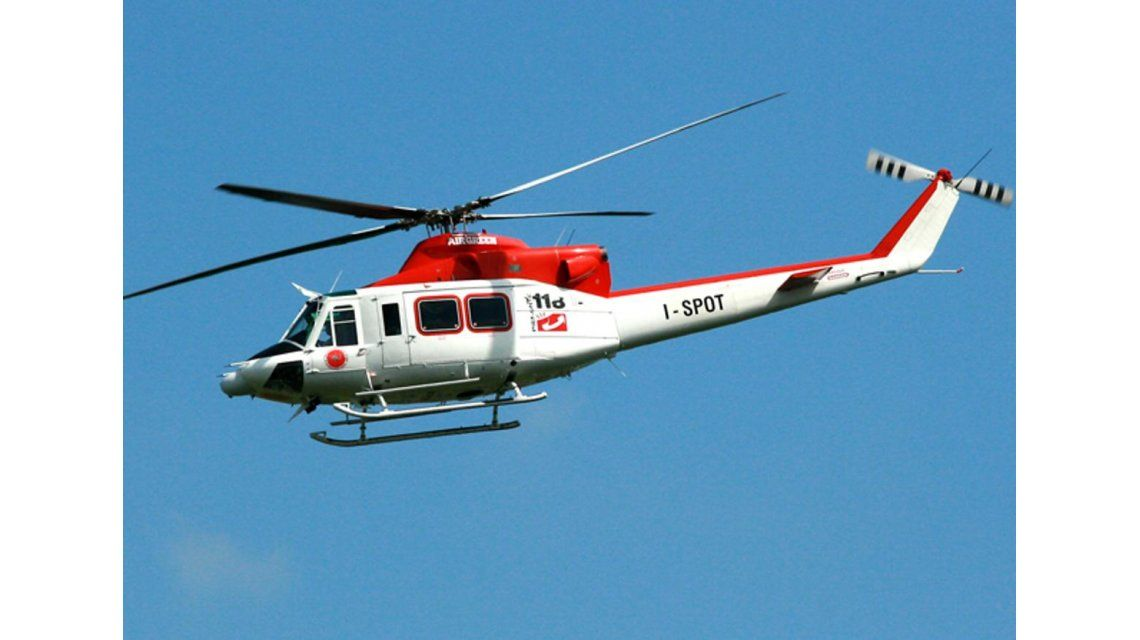 Se estrelló un helicóptero en Italia con 6 personas arriba