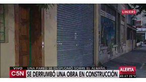 Derrumbe en Liniers
