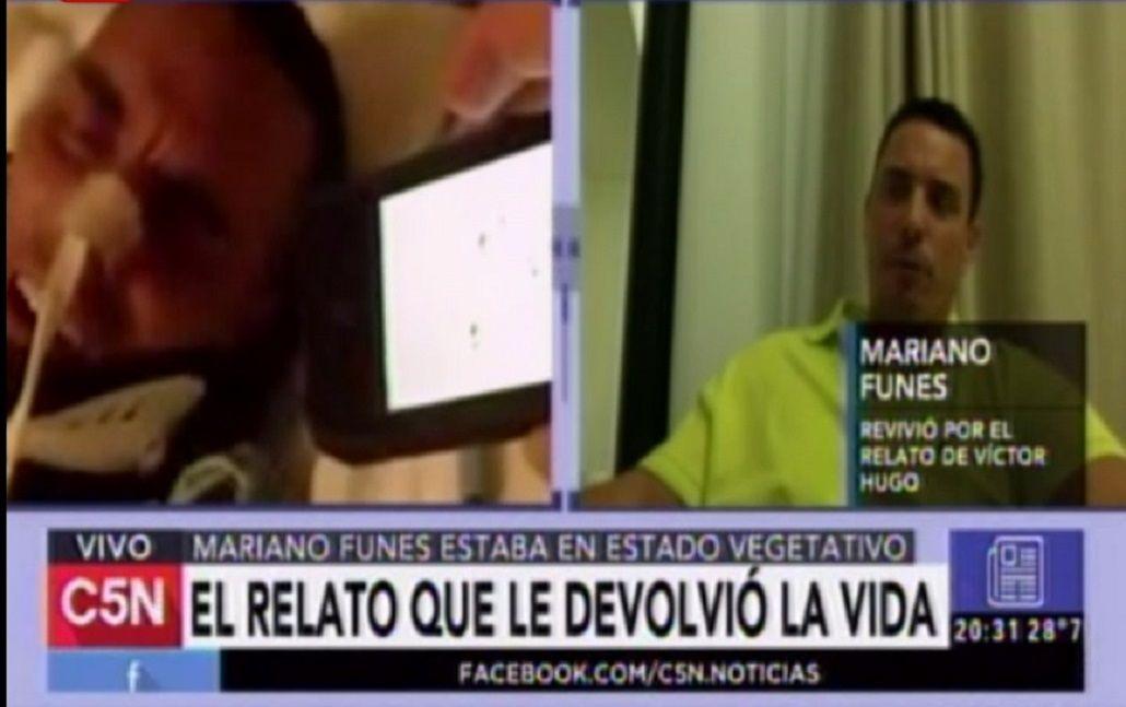 Reaccionó gracias al relato de Victor Hugo del gol de Maradona