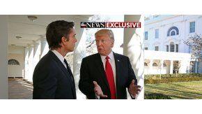 Donald Trump brindó su primerfa entrevista como presidente de Estados Unidos