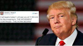 Primer mensaje del día de Donald Trump