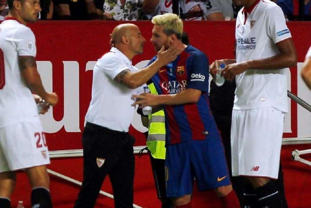 Sampaoli elogió a Messi