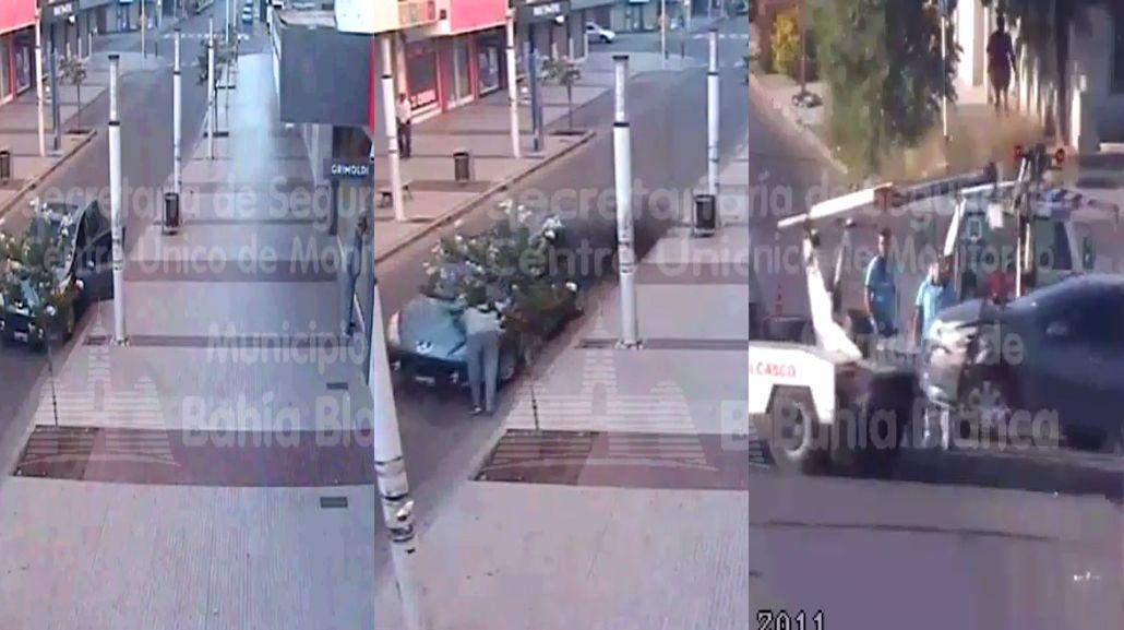 Un hombre dejó abierto su auto y se lo robaron