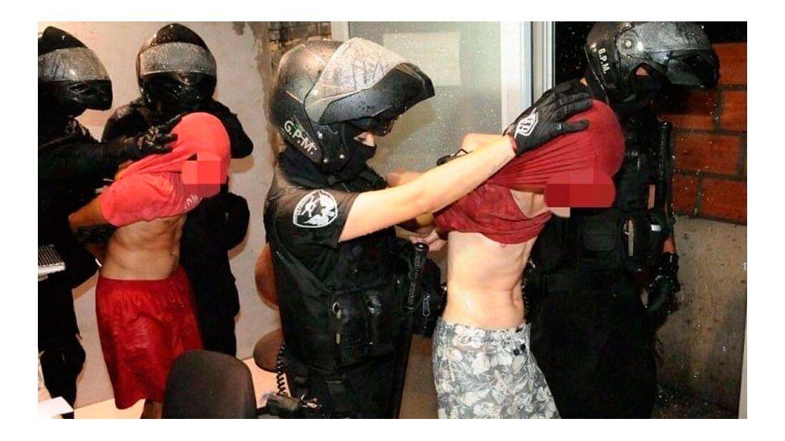 Los jóvenes quedaron detenidos