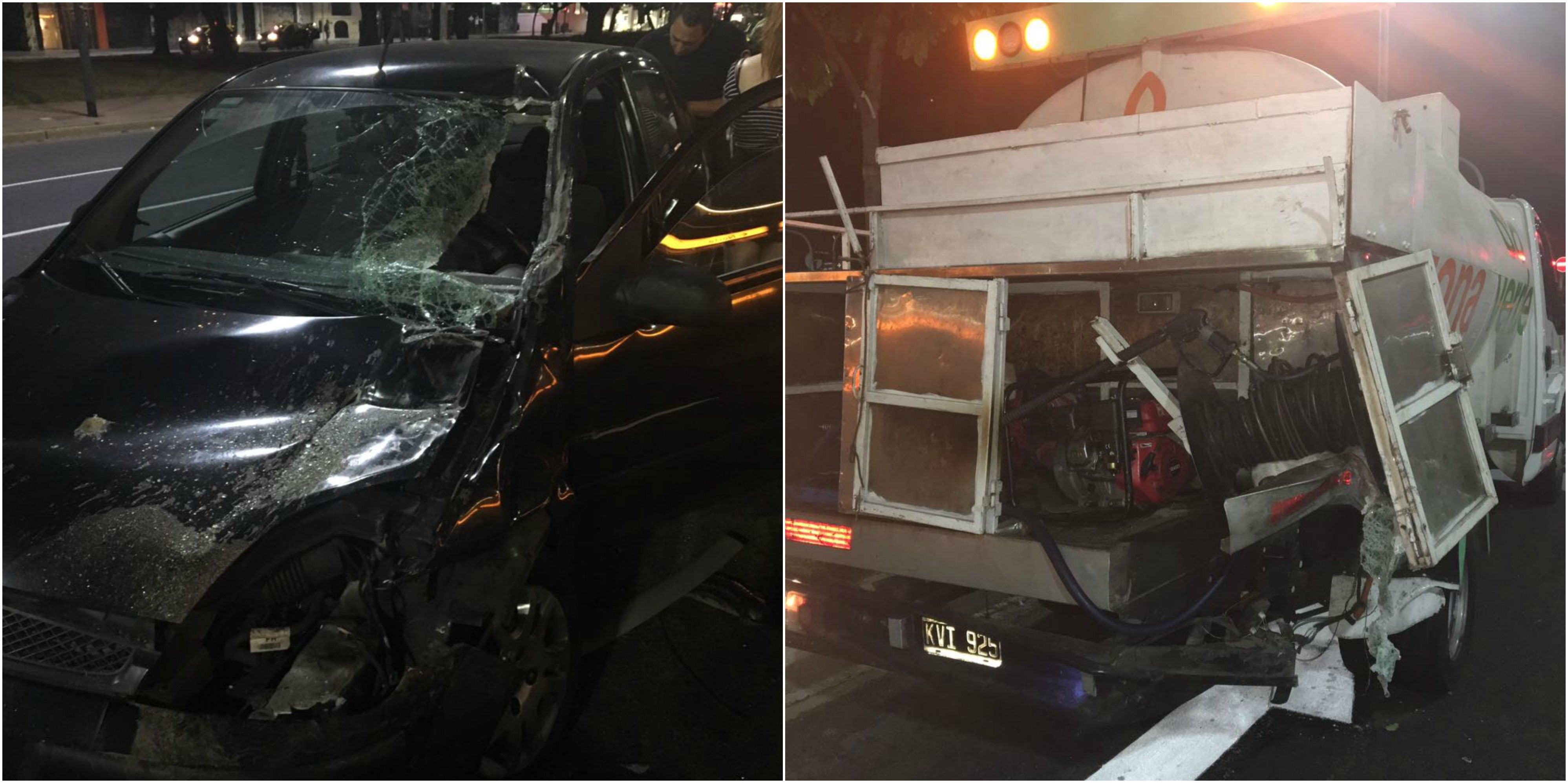 Los vehículos que protagonizaron un violento accidente en Constitución