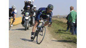 El ex ciclista español, durante una carrera