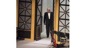 Donald Trump ingresando al concierto en su honor en la previa de su investidura