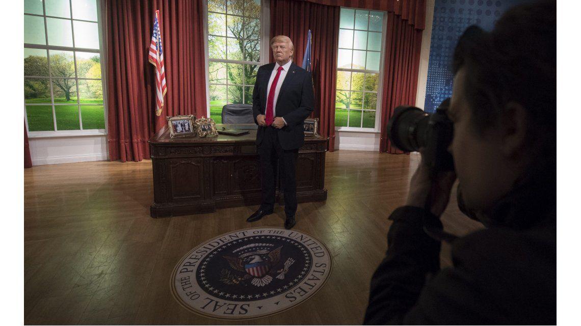 Estatua de cera de Donald Trump en elMuseo Madame Tussauds de Orlando