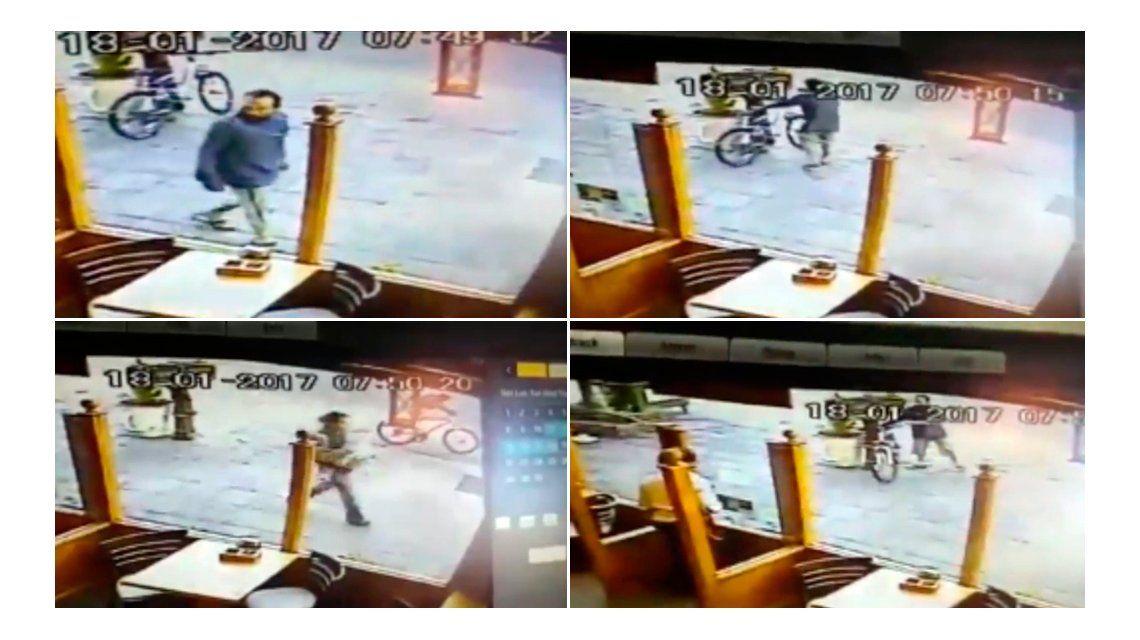 Un ladrón quiso robar una bicicleta e hizo un papelón en Neuquén