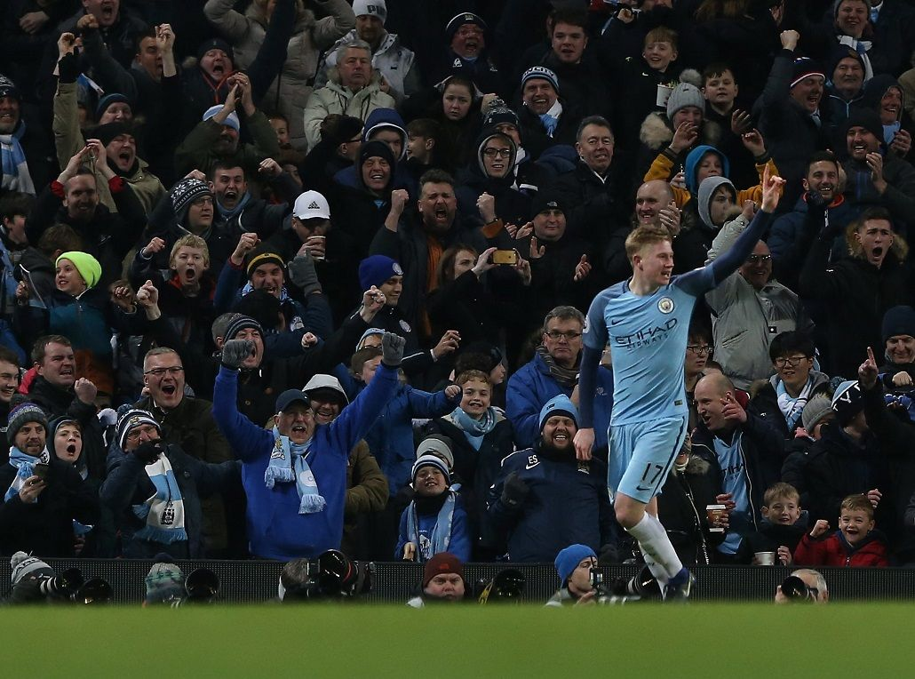 Gol deDe Bruyne para el Manchester City