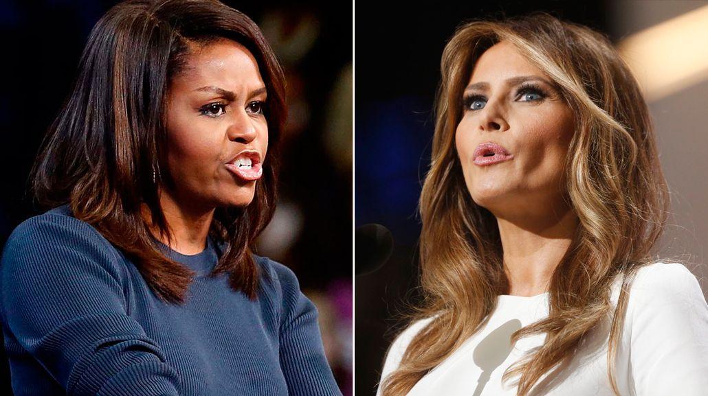 ¿A quién te parecés más: Michelle Obama o Melania Trump?