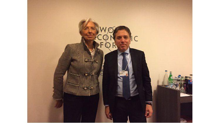 Nicolas Dujovne y Christine Lagarde