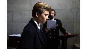 El gesto del hijo menor de Donald Trump en la asunción