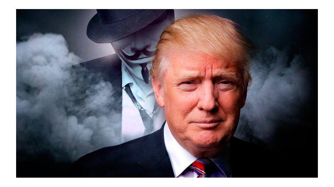 Anonymous amenazó a Donald Trump
