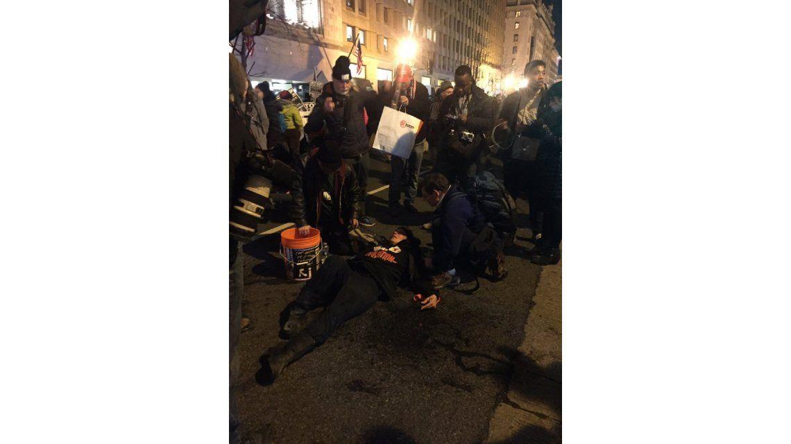 Disuadieron una manifestación contra Trump con gas pimienta
