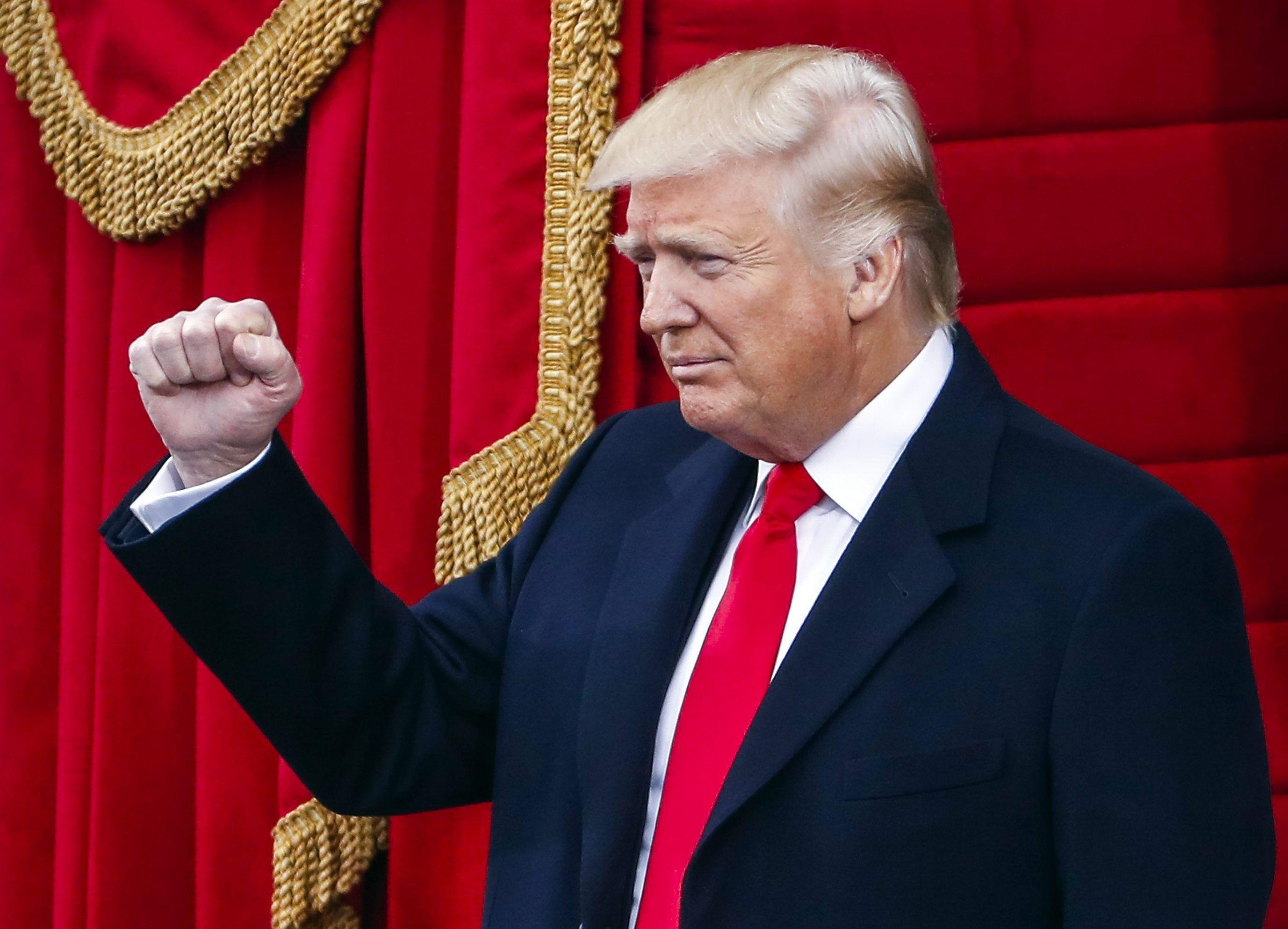 Donald Trump al terminar su discurso