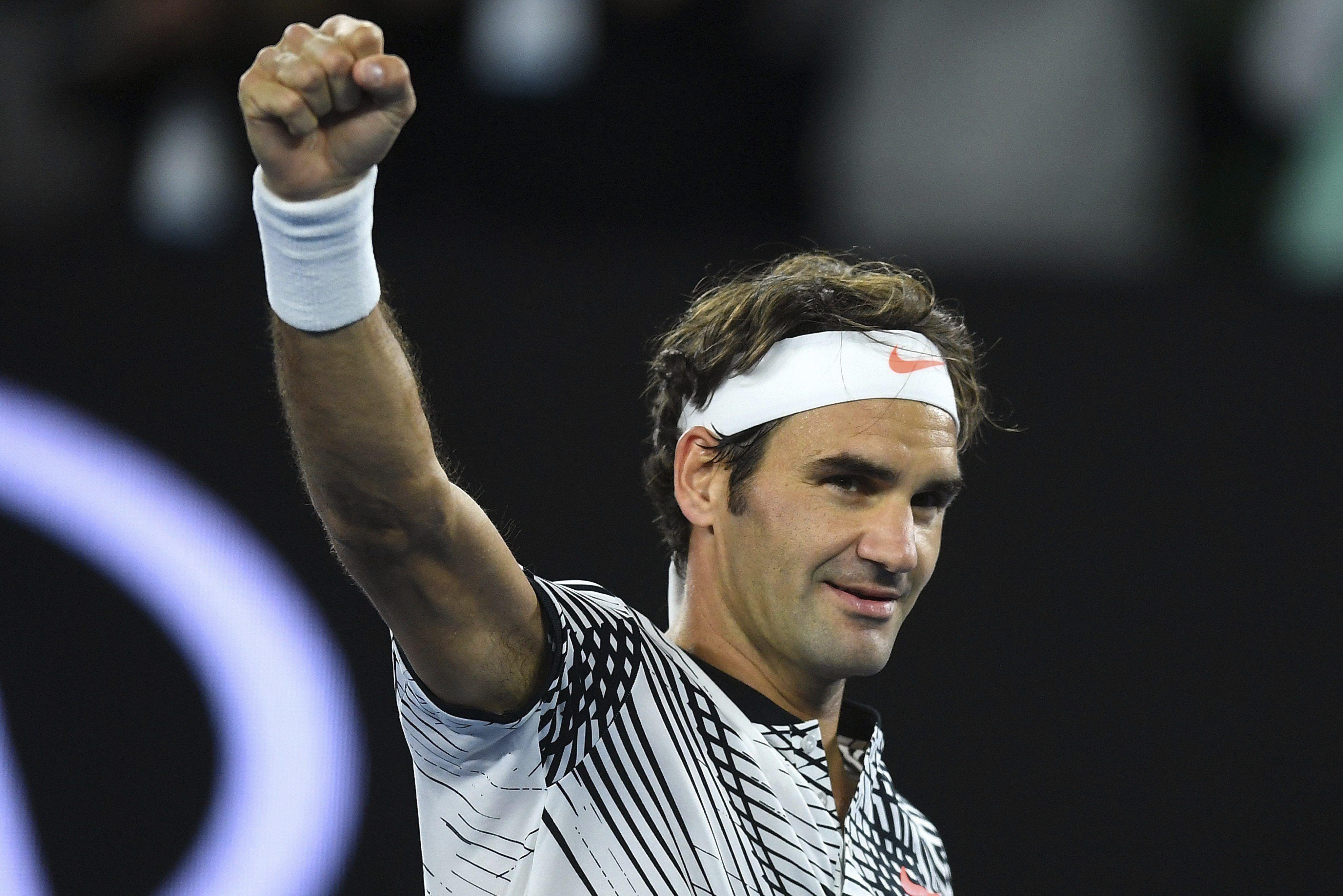 El rostro de felicidad de Roger Federer