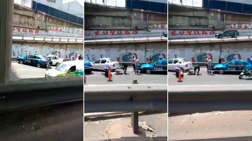 Persecución y tiroteo en la autopista Perito Moreno