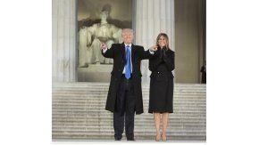 Trump, en el Monumento a Lincoln