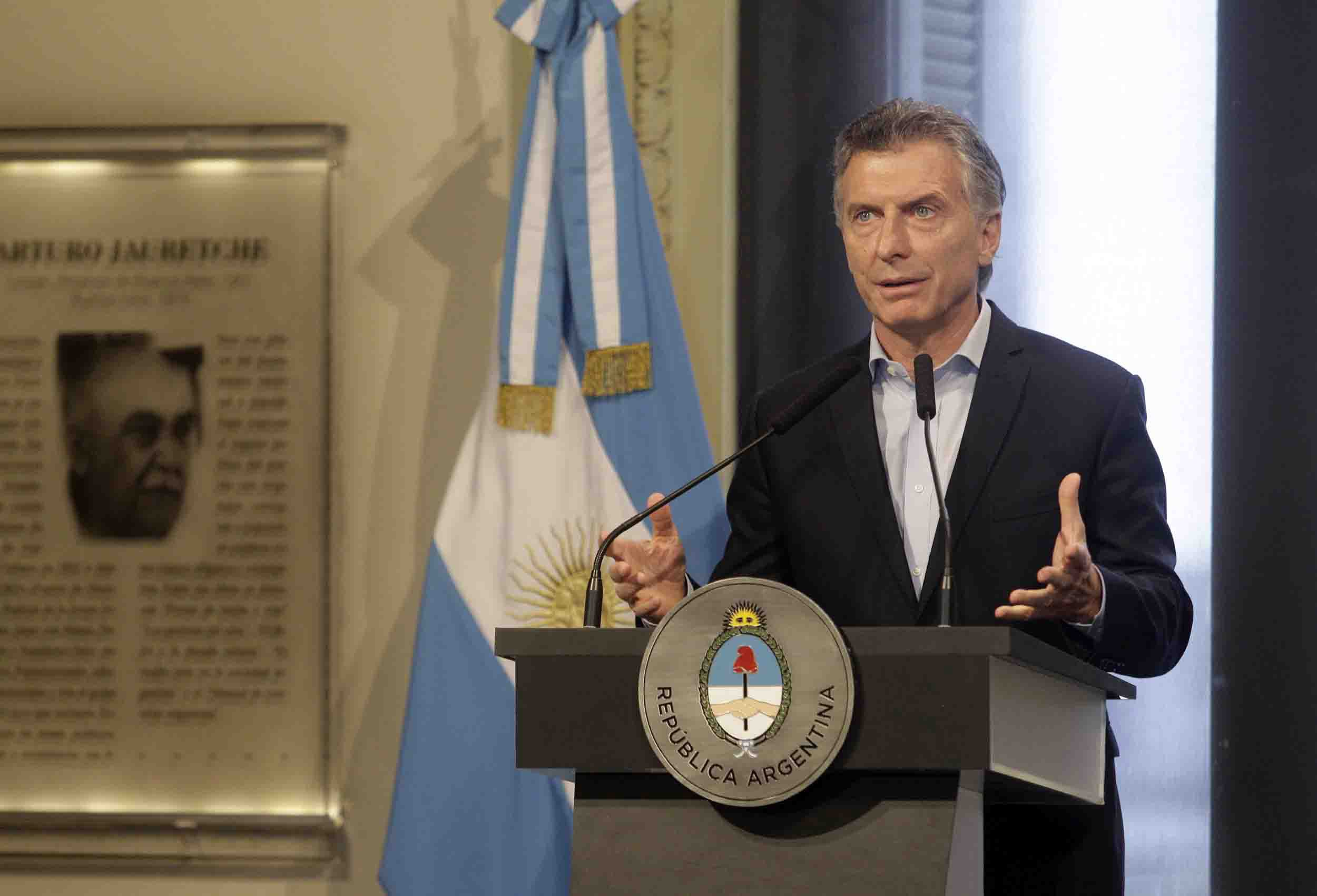 Conferencia de prensa de Mauricio Macri