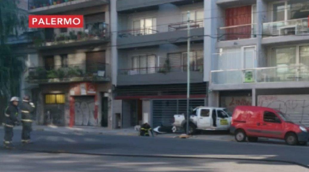 Una camioneta chocó un medidor y provocó una fuga de gas en Palermo