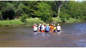 Un niño murió ahogado en un río. Gentileza La Voz.