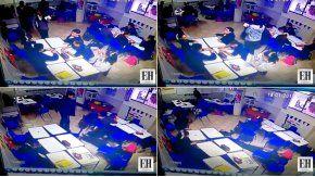 El momento del ataque del alumno de Monterrey