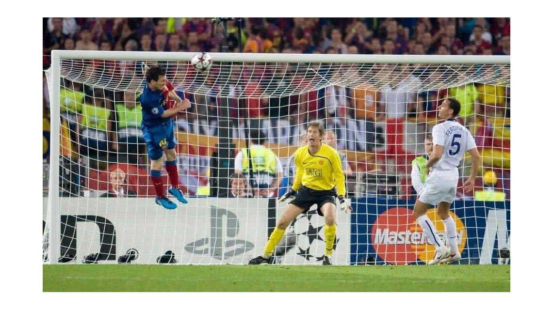 El gran salto de Messi para marcar el segundo del Barcelona