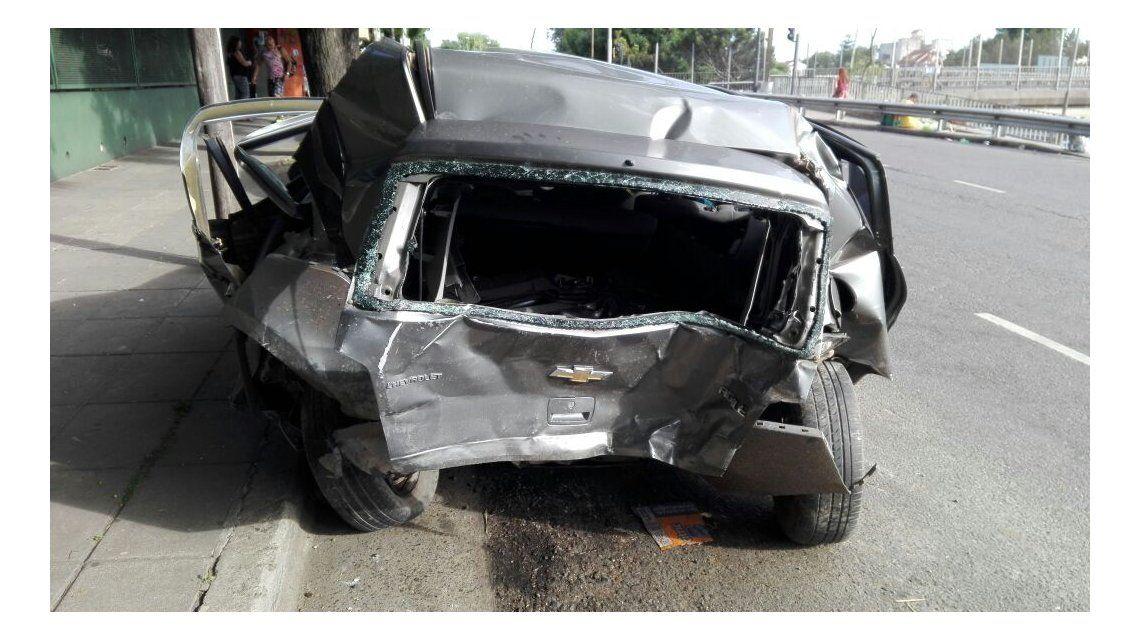 Así quedaron los autos de la picada de Vicente López
