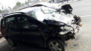 El accidente ocurrió en la avenida Maipu al 1000