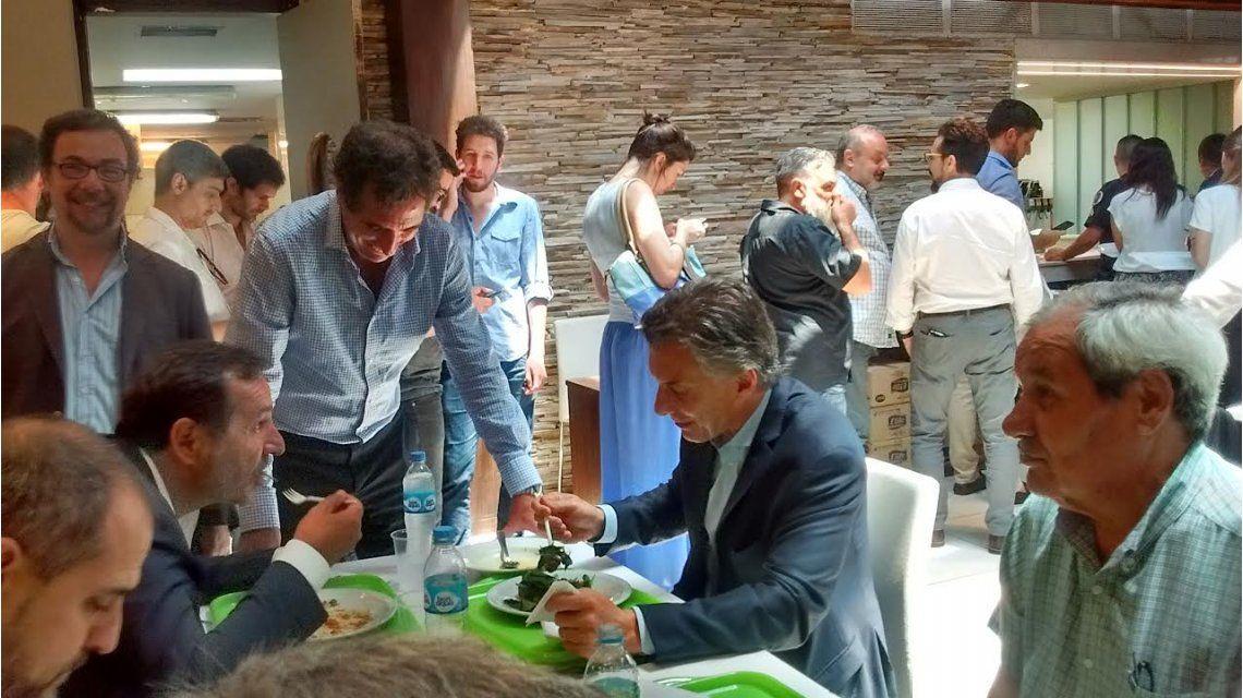 Mauricio Macri en el comedor de la Casa Rosada