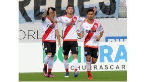 El festejo de River por el gol de Lucas Alario