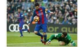 Messi contra Varas, el arquero de Las Palmas