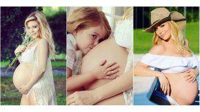 Eva Anderson, embarazada de 32 semanas
