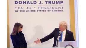 Trump y su mujer, Melania