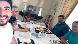 La imagen del almuerzo en Mar del Plata